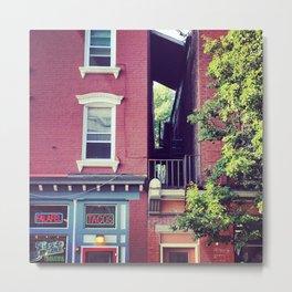 Tacos on Main Street - Beacon NY Metal Print