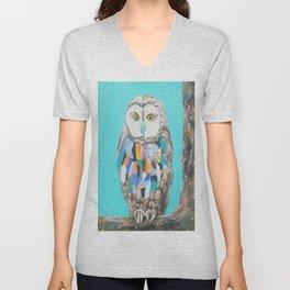 Imaginary owl Unisex V-Neck