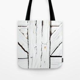 Art Deco White Wooden Gate Tote Bag