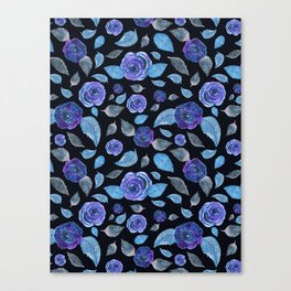 Midnight Roses Canvas Print