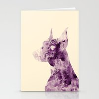 doberman Stationery Cards featuring Doberman Sightings by Elaine Chou