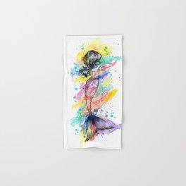 Splash Rainbow Mermaid Hand & Bath Towel