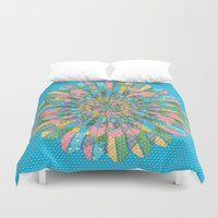 funky Duvet Covers featuring Funky Flower by DesignsByMarly