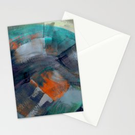 Moody Abstract Paintng Stationery Cards