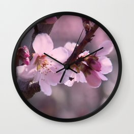 Pink spring time Wall Clock