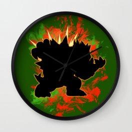 Super Smash Bros. Bowser Silhouette Wall Clock