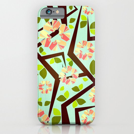 Blooming Trees Pattern III iPhone & iPod Case