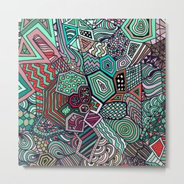 Jolly Geometric Metal Print