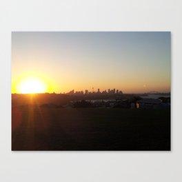 Sydney Sights Sunset Canvas Print