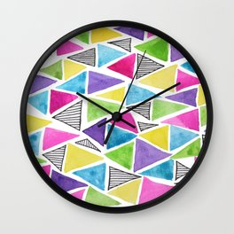Geometric doodle Wall Clock
