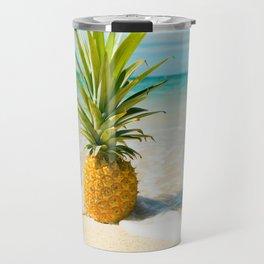 Pineapple Beach Travel Mug