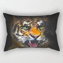 tiger in the dark Rectangular Pillow