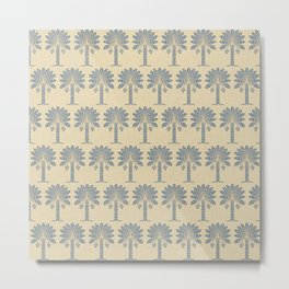 Kashmir Blue Spice Moods Palm Metal Print
