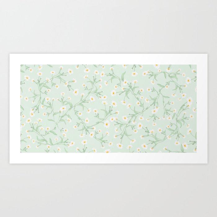 Oxeye (Mint) Art Print