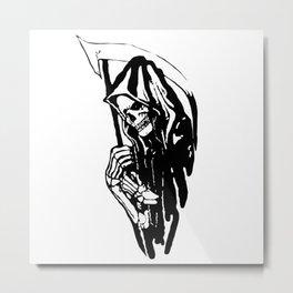 THE GRIM REAPER MR DEATH Metal Print