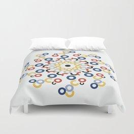 Mondriaan Mandala Duvet Cover