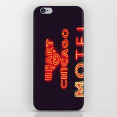 Heart 'O' Chicago Motel (Night) ~ vintage neon sign iPhone & iPod Skin