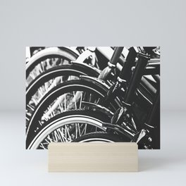 Bicycles, Bikes in Black and White Photography Mini Art Print
