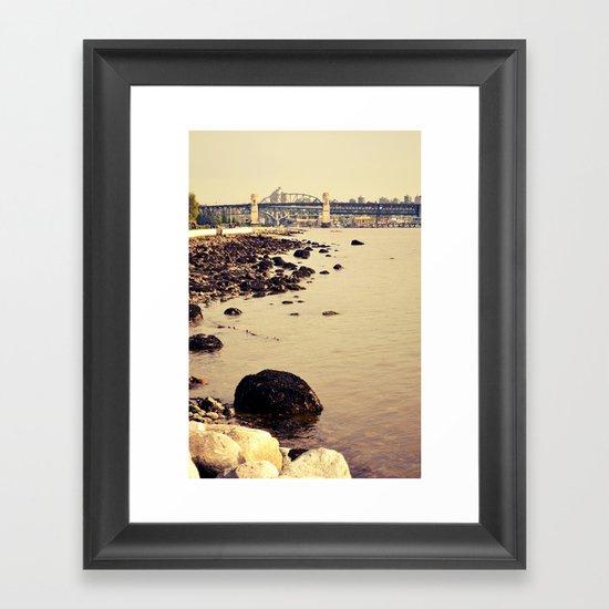 rocks to burrard Framed Art Print