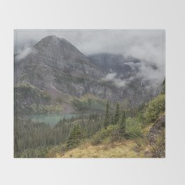 Grinnell Lake from the Trail No. 1 - Glacier NP Throw Blanket