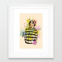 chaplin Framed Art Prints featuring Chaplin by Dnl Villanueva