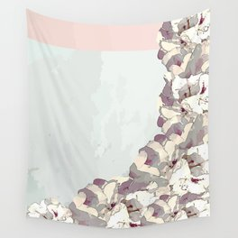 Orchid waterfall Wall Tapestry
