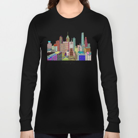 Philadelphia city sklyine Long Sleeve T-shirt
