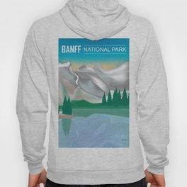 Banff National Park, Alberta, Canada - Skyline Illustration by Loose Petals Hoody