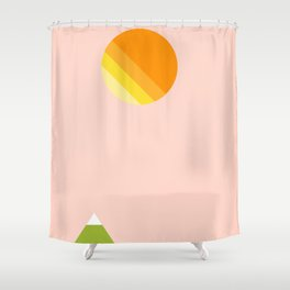 Hills and Sunshine Shower Curtain