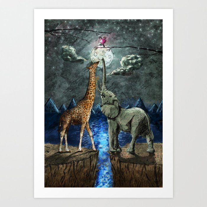 The Magical Forces of the Moon Art Print
