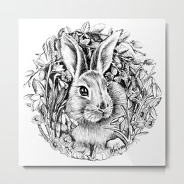"Spring rabbit. From the series ""Seasons"" Metal Print"