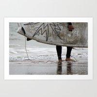 surfboard Art Prints featuring Surfboard 2 by Becky Dix