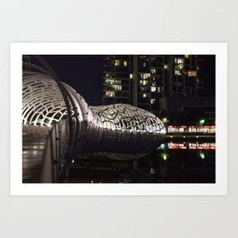 Webb Bridge Docklands Art Print