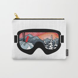 Snow Sport Sunset   Ski and Snowboard Series   DopeyArt Carry-All Pouch
