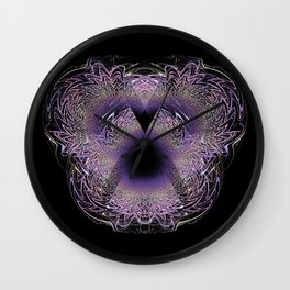 Violet Crystal Wall Clock
