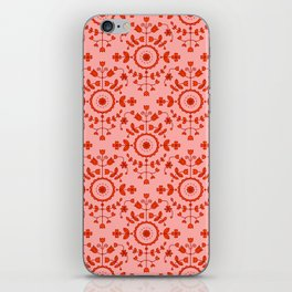 Boho Floral - Orange iPhone Skin