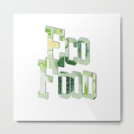Eco Food Metal Print