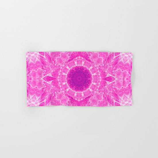 Vibrant pink kaleidoscope Hand & Bath Towel