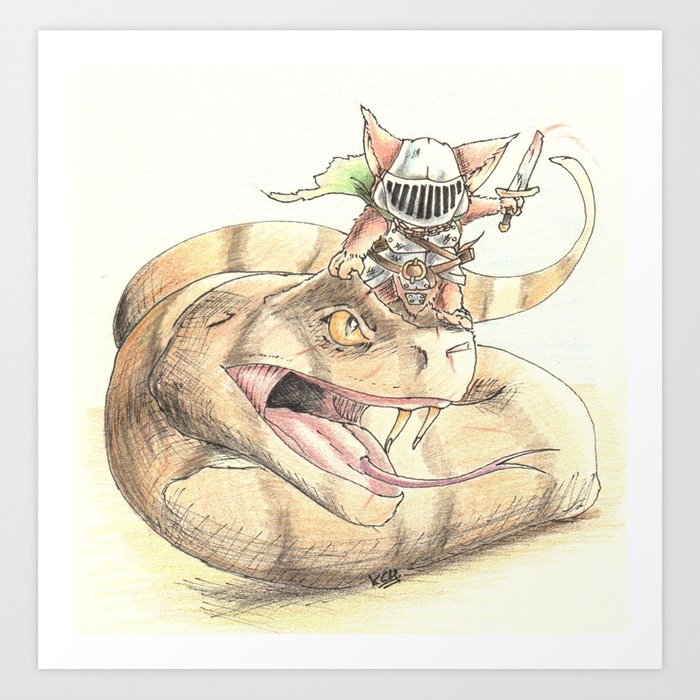 Snakeborn Art Print