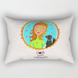 Dogs Are Confidants ❤️ Rectangular Pillow