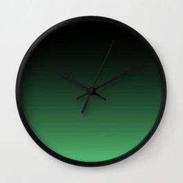 Hulk green Ombre Wall Clock