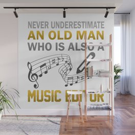 Old Man - A Music Editor Wall Mural