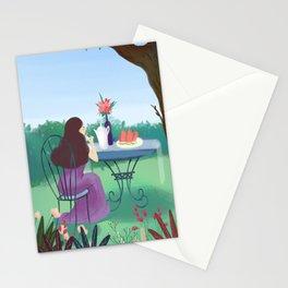 Beautiful Garden Girl Stationery Cards