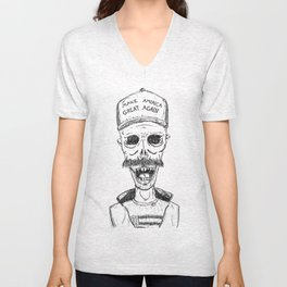 Make America Great Again, with zombies Unisex V-Neck