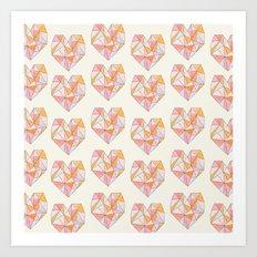 Pour Toujours pattern Art Print