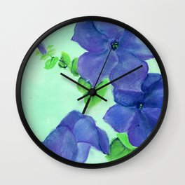 Flash Blue Wall Clock