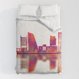 Nicosia Cyprus Skyline Comforters