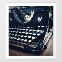 Ye Olde Italian Typewriter. Art Print