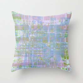 Paint the wall with many colors and shapes Throw Pillow