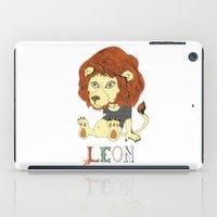 leon iPad Cases featuring Leon by eva vasari
